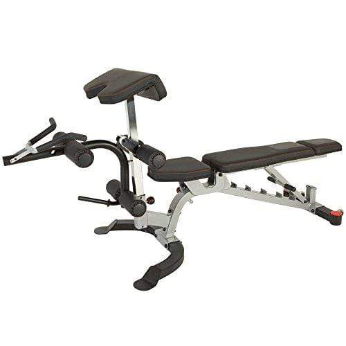 X-Class 1500 lb Light Commercial Utility Weight Bench with Olympic Preacher Curl & Leg Developer Attachment Sport & Recreation Fitness Reality