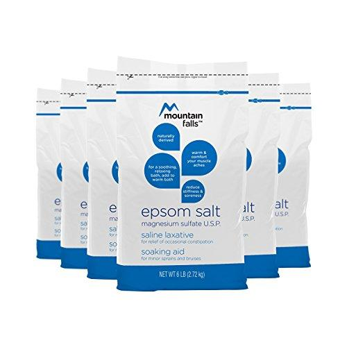 Mountain Falls Epsom Salt Magnesium Sulfate, 6 Pound (Pack of 6)