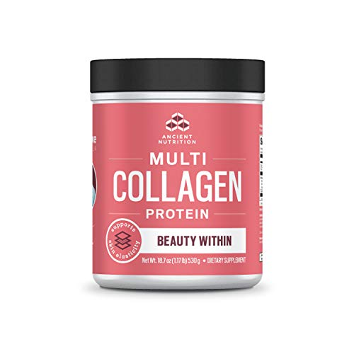 Ancient Nutrition Multi Collagen Protein Powder, Beauty Within, Watermelon Basil Flavor - 45 Servings