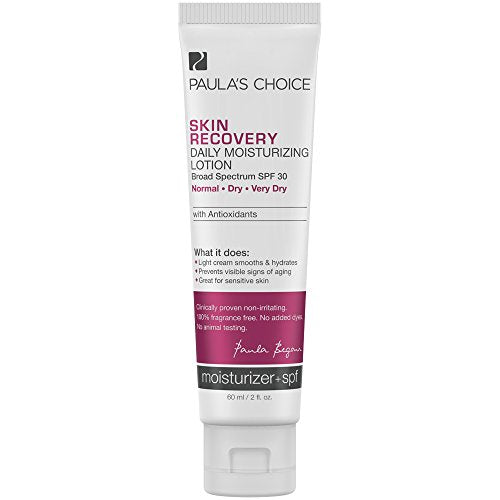 Paula's Choice SKIN RECOVERY Daily Moisturizing Lotion SPF 30 Mineral Sunscreen, 2 Ounce Bottle Moisturizing Sunscreen for Dry and Sensitive Facial Skin