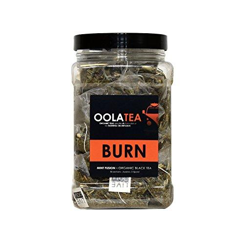 BURN (Mint Fusion) 50 Count | Certified Organic Black Tea | Boosts Energy | Aids in Weight Loss Food & Drink OolaTea