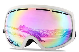 5cfb1533fb2 Wantdo Adult Ski Goggle Snowboard Glasses Snowmobile Skate Motorcycle  Riding Dual Layers Lens Anti-Fog UV 400 Protection OTG Helmet Compatible  for Men Women ...