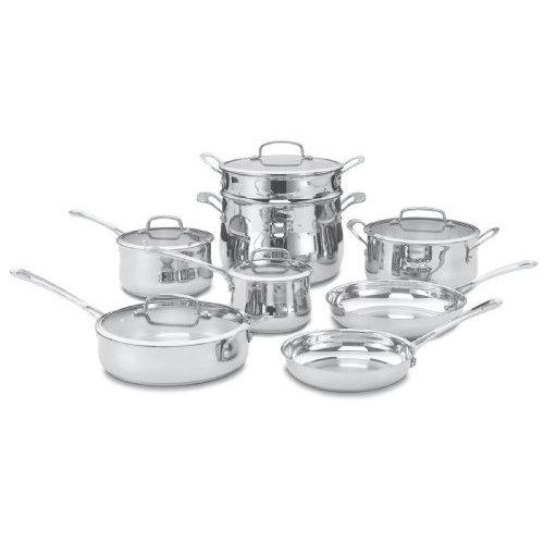 Cuisinart 44-13 Contour Stainless 13-Piece Cookware Set Kitchen & Dining Cuisinart