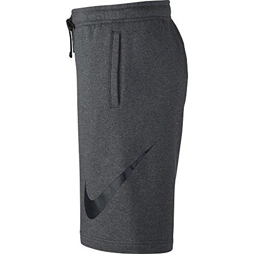 NIKE Sportswear Men's Club Shorts, Charcoal Heather/Black, Medium Activewear NIKE