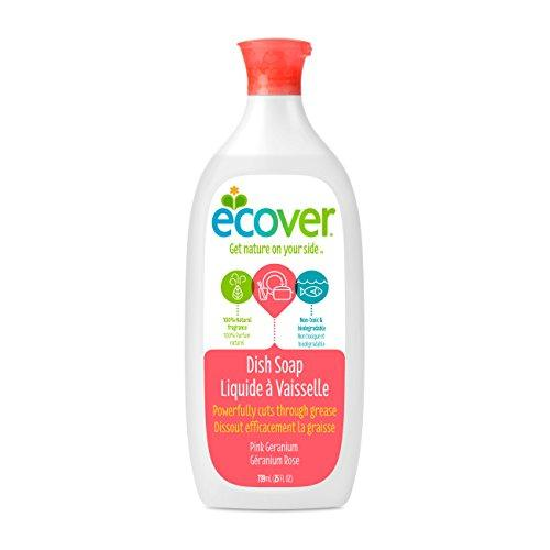 Ecover Dish Soap, Pink Geranium, 25 Ounce (Pack 6) Dish Soap Ecover