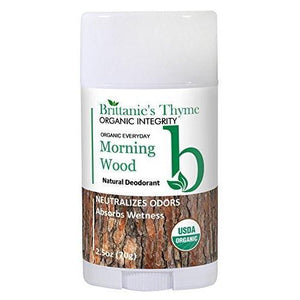 Organic Morning Wood Natural Deodorant For Men Easy To Apply