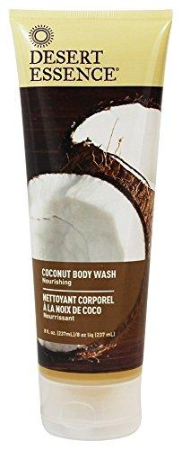 Desert Essence Coconut Body Wash and Hand and Body Lotion Bundle - 8 fl oz ea