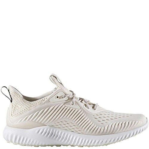 adidas Women's Alphabounce Em w Running Shoe, Chalk White/White/Pearl Grey, 9 Medium US