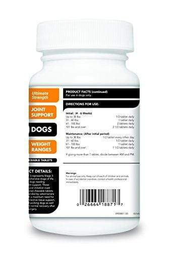 VetriScience Laboratories GlycoFlex 3 Hip and Joint Support for Dogs, 120 Chewable Tablets Animal Wellness VetriScience Laboratories