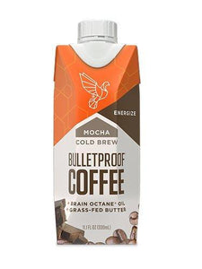 Bulletproof Coffee Cold Brew Ready To Drink- Ketogenic Diet, Sugar-Free, Includes Grass-Fed Butter and Brain Octane Oil, Mocha (12 Pack)