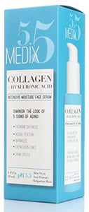 Medix 5.5 Collagen Serum for Wrinkles, Dark Spots Fine Lines, and dry skin. 2oz Anti-aging face serum with Hyaluronic Acid, Bulgarian Rose, and natural extracts. Large 2FL Oz (59mL) with a pump