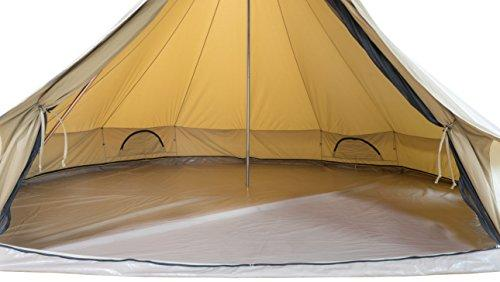 TETON Sports Sierra 12 Canvas Tent; Bell Tent for Camping in All Seasons; Family Tent is Waterproof with Breathable Cotton Canvas Shell; Designed for Your Family's Camping Adventures; 6-10 Person Tent