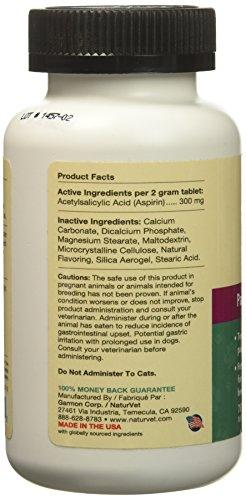 NaturVet Buffered Aspirin Medium Large Breed (75 count) Animal Wellness NaturVet