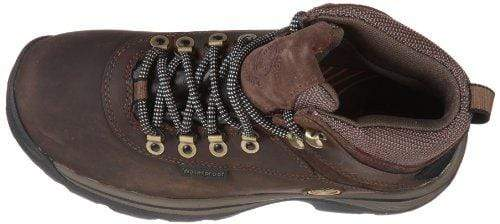 TimberlanD Women's White LeDge MiD Ankle Boot,Dark Brown,7.5 W US