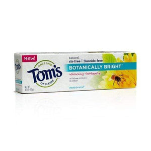 Tom's of Maine 683213 SLS-Free Botanically Bright Toothpaste, Peppermint, 4.7 Ounce, 24 Count