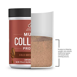 Ancient Nutrition Multi Collagen Protein Powder, Cold Brew Flavor - 40 Servings - Contains Caffeine