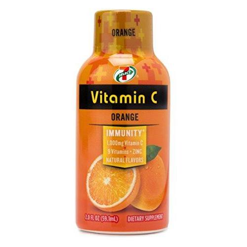 7-Select Vitamin C Immunity Boost (Orange), 2 oz., 8 Pack Box