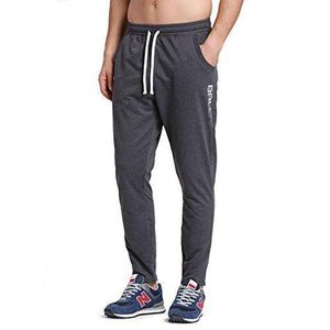Baleaf Men's Tapered Athletic Running Track Pants Dark Gray Size S