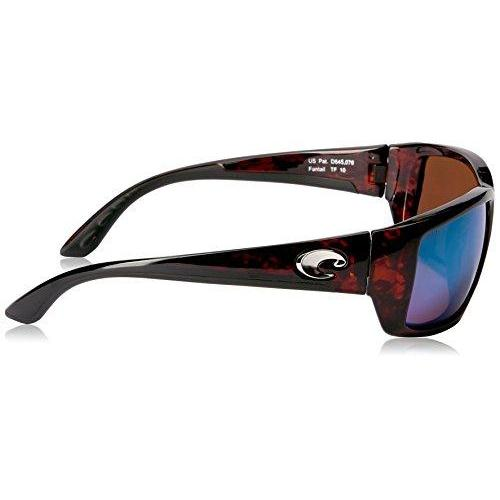 2c046edb6c35 ... Costa del Mar Unisex-Adult Fantail TF 10 OGMGLP Polarized Iridium  Rectangular Sunglasses, Tortoise ...