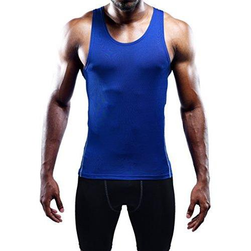 Neleus Men's 3 Pack Athletic Compression Under Base Layer Sport Tank Top Activewear Neleus