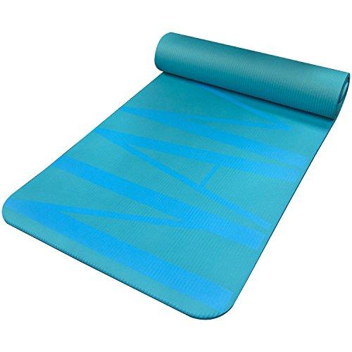 Fit Spirit Extra Thick Yoga Mat Namaste Blue ½ Inch