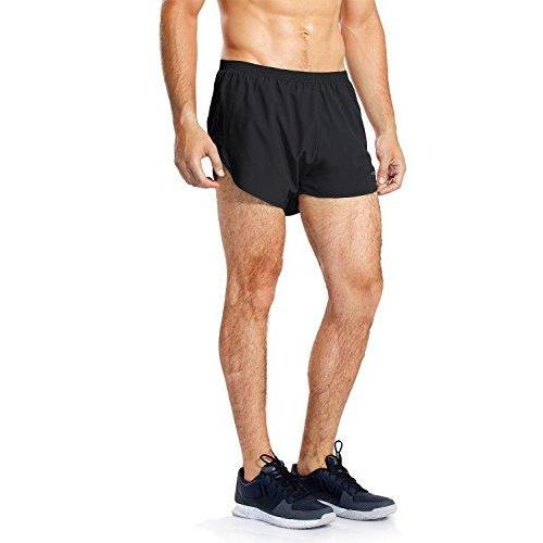 Baleaf Men's Quick-Dry Lightweight Pace Running Shorts Black Size S Activewear Baleaf