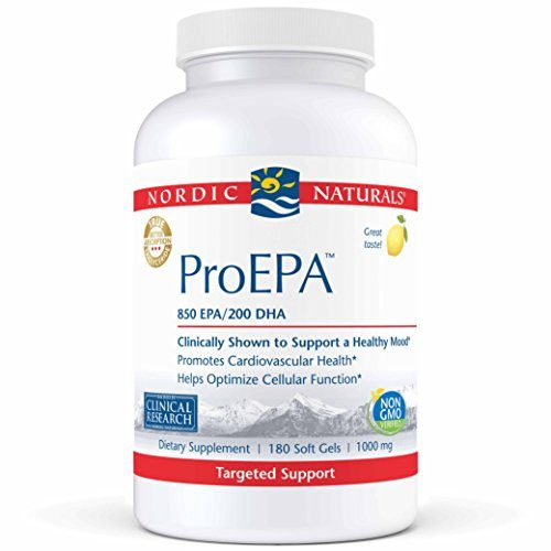 Nordic Naturals Pro - ProEPA, Promotes Cardiovascular Health, Supports Gastrointestinal Health and a Healthy Mood - Lemon Flavored 180 Soft Gels