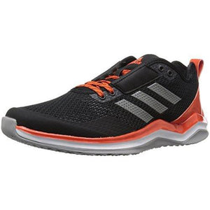 adidas Men's Freak X Carbon Mid Cross Trainer, Black/Iron/Collegiate Orange, (10 M US)