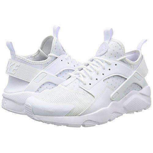 NIKE Mens Huarache Run Ultra Running Shoes White/White 819685-101 Size 9.5 Shoes for Men NIKE