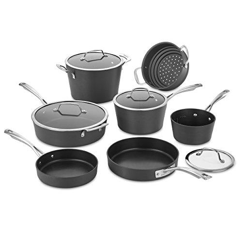 Cuisinart 62I-11 Conical Hard Anodized Cookware Set, Medium, Black Kitchen & Dining Cuisinart