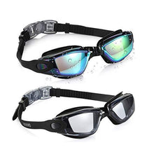Aegend Swim Goggles, Pack of 2 Swimming Goggles No Leaking Anti Fog UV Protection Crystal Clear Vision Triathlon Swim Goggles with Free Protection Case for Adult Men Women Youth Kids Child, 6 Choices