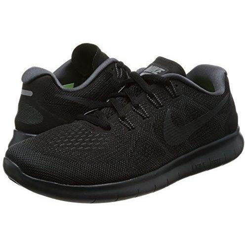 NIKE Women's Free Rn 2017 Black/Anthracite Dark Grey Running Shoe 7.5 Women US Shoes for Women NIKE