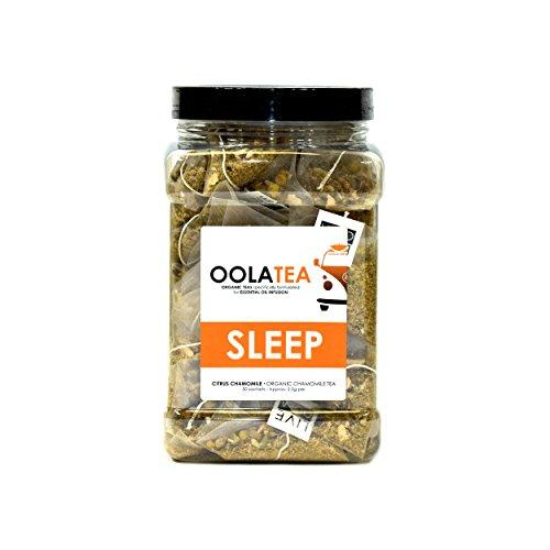 SLEEP 50 Count | Certified Organic Citrus Chamomile | Improves Sleep | Reduces Stress