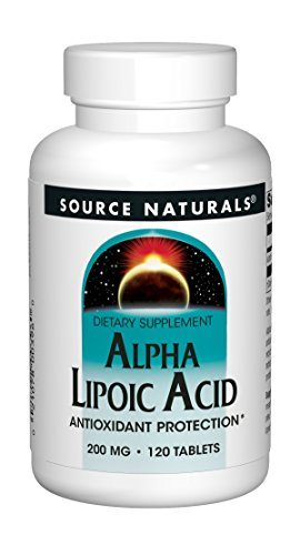 Source Naturals Alpha Lipoic Acid 200mg, Antioxidant Protection & Cell Metabolism Support - 120 Tablets