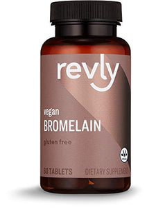 Amazon Brand - Revly Bromelain, 500 mg, 60 Tablets, 2 Month Supply, Vegan