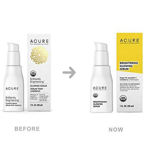 Acure Brilliantly Brightening Glowing Serum, 1 Fluid Ounce (Packaging May Vary)