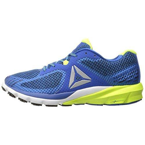 Reebok Men's OSR Harmony Road Running Shoe, Awesome Blue/Collegiate Navy/White/Black/Solar Yellow, 9.5 M US Shoes for Men Reebok