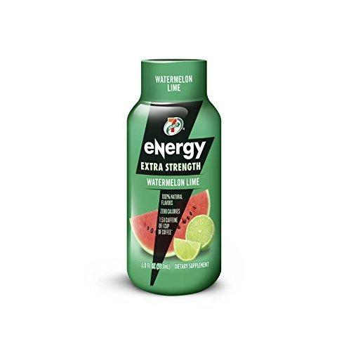 7-Select Extra Strength Energy Shot, Watermelon Lime, 2-Ounce Bottles (Pack of 12)