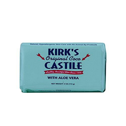 KIRKS Natural Products Castile Bar Soap with Aloe, 0.02 Pound