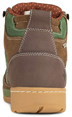 Forsake Hiker - Men's Waterproof Leather Hiking Shoe (12, Brown/Green)