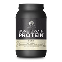 Ancient Nutrition Bone Broth Protein Powder, Pure Flavor, 40 Servings Size