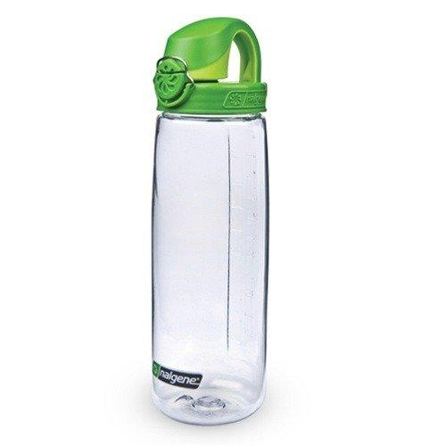 Nalgene Tritan On The Fly Water Bottle, Clear with Green, 24Oz Sport & Recreation Nalgene