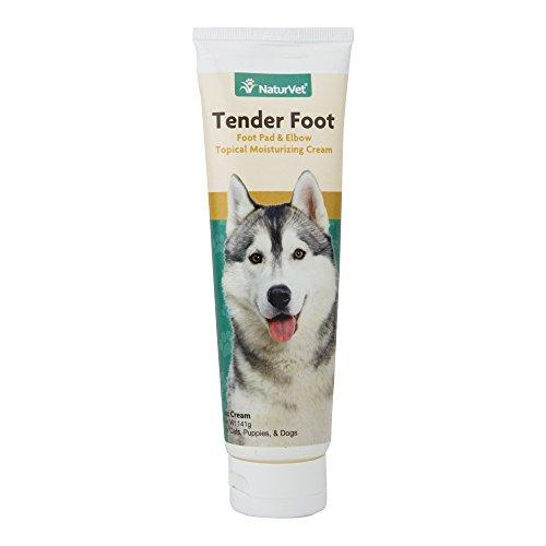 NaturVet Tender Foot, Foot Pad & Elbow Topical Moisturizing Cream for Cats, Puppies and Dogs, 5 oz Cream, Made in USA Animal Wellness NaturVet