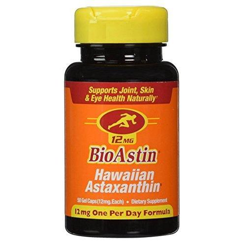 BioAstin Hawaiian Astaxanthin – 50 ct – 12mg Supplement Nutrex Hawaii