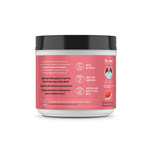 Ancient Nutrition Multi Collagen Protein Powder, Beauty Within, Watermelon Basil Flavor - 24 Servings