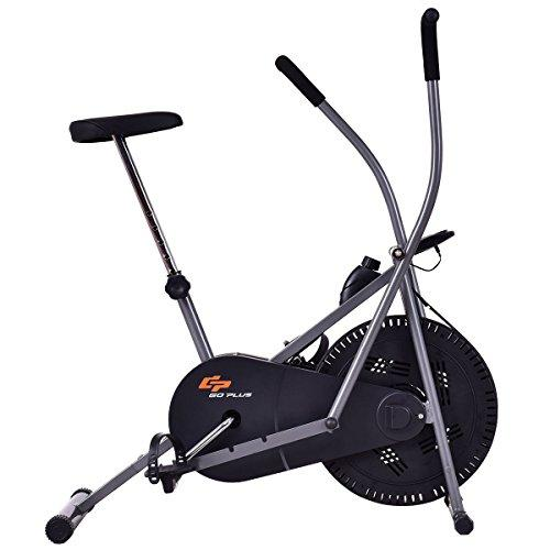 Goplus Elliptical Bike Upright Exercise Fan Bike Bicycle Air Resistance Stationary Cardio Fitness Cross Trainer Sport & Recreation Goplus