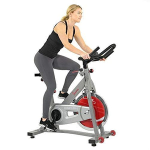 Sunny Health & Fitness Pro II Indoor Cycling Bike with Device Mount and Advanced Display – SF-B1995, Silver