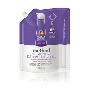 Method Laundry Detergent Refill for Pump Bottles, Lavender Cedar, 34 Ounce, 85 Loads