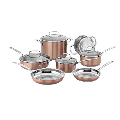 Cuisinart CSS-11BU Chef's Classic Stainless Cookware Set, Medium, Copper Kitchen & Dining Cuisinart