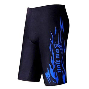"WUAMBO Swimwear Men's Swim Jammer Shorts Blue US Medium Waist 32""-35"""